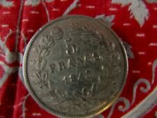ancienne piece monnaie 5 francs f 1843 A  ecu  louis philippe