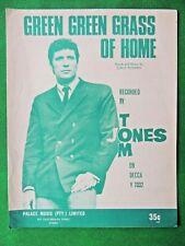 GREEN GREEN GRASS OF HOME vintage Australian sheet music recorded by TOM JONES
