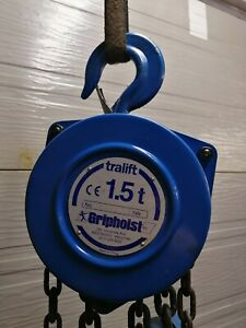 Tractel - tralift 1 1/2T Manual chain hoist with 10ft lift