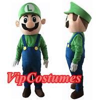 Luigi from Mario Super Bros. Mascot Costume Cartoon Character Adult  Express