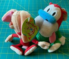 """Ren & Stimpy 8"""" Plush Dolls - Dakin - Original, from 1992! Near Mint, w/ Tags!"""