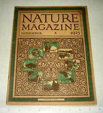 November 1925 NATURE MAGAZINE - Canada Goose . Harvard Forest . Ground Squirrel
