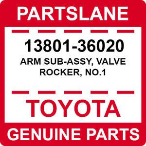 13801-36020 Toyota OEM Genuine ARM SUB-ASSY, VALVE ROCKER, NO.1