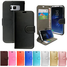 Case for Samsung Galaxy S7 S8+ S9 A3 A6 J3 J5 J6 Leather Wallet Flip Stand Cover