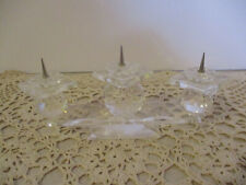 Single Swarovski Crystal Glass Candle Holder Pin Style Triple Light