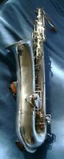Fabulous 1921 Bright silver Martin Tenor Saxophone. Restored, ready to Play.