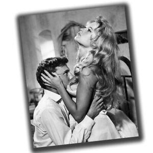 Brigitte Anne-Marie Bardot Retro Star Photo Glossy Big Size 8X10in β009