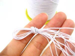 60ms  white Round Elastic Stretchy Thread hat Beading jewellery craft elastic