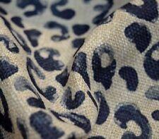 Blue Leopard Cheetah Upholstery Mancala Navy Regal Fabric