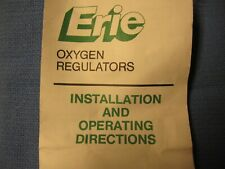 New listing Erie Oxygen Regulator with Flow Meter  New in Box