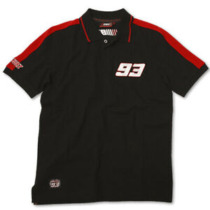 OFFICIAL APPAREL MARC MARQUEZ 93 BLACK POLO TOP EXTRA LARGE  MOTO GP CHAMPION