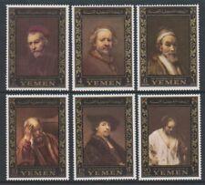 Yemen - 1967, Ampilax Stamp Exh (Rembrandt Paintings) set - MNH - SG R198/203