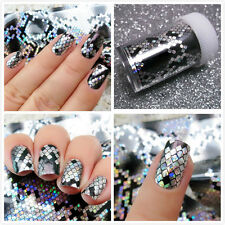 New Holographic Snake Transfer Nail Full UV Decal Nail Art Decor Stickers Tips