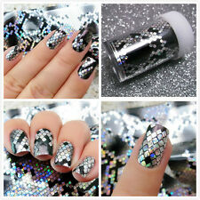 Black White 3D Snake Design Nail Art Manicure Tips Sticker Decal DIY Decoration