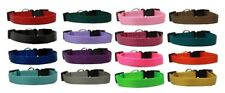 """Nylon Cat Safety Adjustable Breakaway Collars 6 to 10 inch x 3/8"""" 16 Colors USA"""