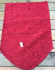 "Plain Red Chenille  Chair Back, Polyester 14""x21"""