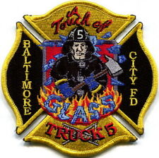"""Maryland - Baltimore City FD Truck 5 """"A Touch of Glass"""" current style patch"""