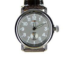 NEW Shinola Detroit Runwell 36mm Stainless Gray Alligator Leather Strap Watch