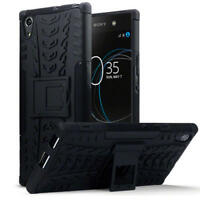 Shock Resistant Rugged Hard Case Cover for Sony Xperia XA1 Ultra - Black