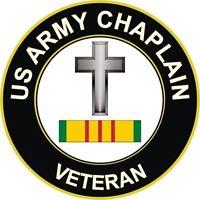 "Army Christian Chaplain Vietnam Veteran 5.5"" Window Sticker Decal"