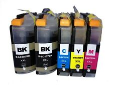 5PK LC107XXL LC105 XXL Ink Cartridge Set For Brother MFC-J4510DW J4610DW J4710DW