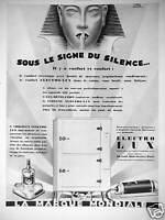 PUBLICITÉ ELECTRO LUX LE FRIGÉLUX SOUS LE SIGNE DU SILENCE LA MARQUE MONDIALE