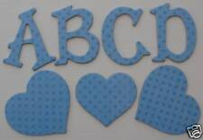 Bo Bunny Double Dot - BRiLLANT BLUE - Chipboard Alphabet Letters & Die Cuts