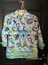 Westbound PetitesSMALL Wrinkle Free Floral Print Button Down Blouse Summer Shirt