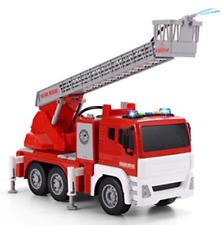 Juguete para niñ@s Carro de Bomberos con luces y sirenas 3D requiere 3 pilas A