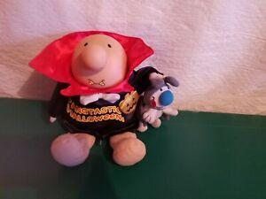 "Vintage 2005 Fangtastic Halloween  ZIGGY 8"" Stuffed Plush Message Doll w/ Dog"