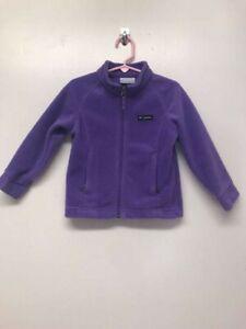 Columbia Full Zip Fleece Jacket Toddler Girl Size 3T- Purple
