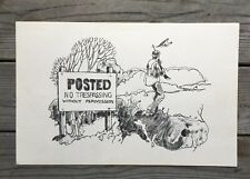 """Rare VINTAGE HUNTING EDUCATION POSTER 11""""x17"""" Drawing"""