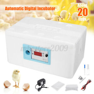 20 Egg Digital Automatic Incubator Chicken Poultry Hatcher Temperature Control
