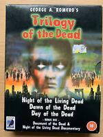 Trilogy Of The Dead DVD Caja Set Romero Noche Dawn Día Horror 4-Disc Anchor Bay