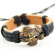 Cool Surfer Taino tribe turtle Leather Bracelet