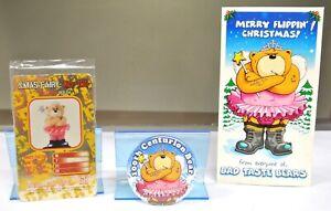 VERY RARE BAD TASTE BEARS XMAS FAIRY/CENTURION BADGE (ONLY 200 MADE) PLUS CARDS.
