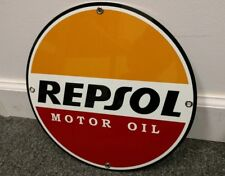 Repsol Gasoline gas motor oil sign .Free ship on any 8 signs