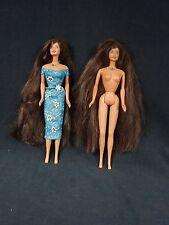 Lot 2 Long Hair Barbie Teresa Mattel 1990