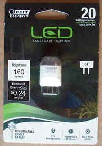Feit LED Landscape Low Voltage 12V 20W/2W G4 Lamp Light 160 Lumens-Save on 2+