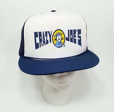 Vintage 1980s Crazy Joe's Foamie Snapback Trucker Hat