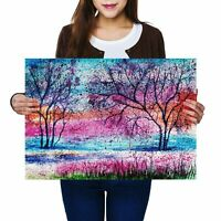 A2 - Pretty Tree Painting Art Poster 59.4X42cm280gsm #2332