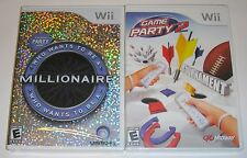 Nintendo Wii Lot - Who Wants to Be A Millionaire (New) Game Party 2 (New)