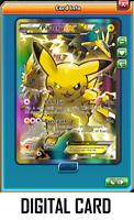 Pokemon TCG ONLINE Pikachu EX XY124 DIGITAL CARD Black Star Promo Full Art PK3