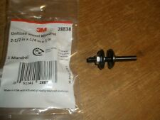 "New listing 3M 28838 Unitized Wheel Mandrel 2-1/2"" X 1/4"" X 1"" 1/4"" Shank Diameter Usa"