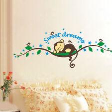 Wandtattoo Affe Traum Kinderzimmer schlafen Baby Kind blau grün Vogel Sticker