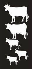 Cow Family Farm Animal 776 Vinyl Window Decal Sticker for Car Truck Laptop