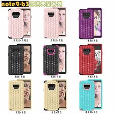 10pcs/lot Bling Diamond Armor Tri-Layer Shockproof Hybrid Case For Samsung Note9
