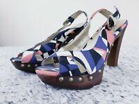 Xhilaration Women's Shoes 7.5 Platform Heels ankle strap Open Toe sandals