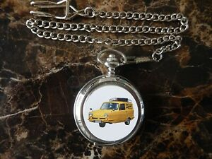 RELIANT REGAL VAN (ONLY FOOLS AND HORSES) CHROME POCKET WATCH WITH CHAIN (NEW)