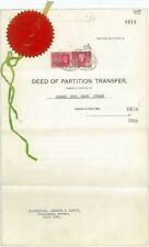 "SOUTH AFRICA - 1939 ""Deed of Partition"" with KGVI Revenue stamps (ME449)**"